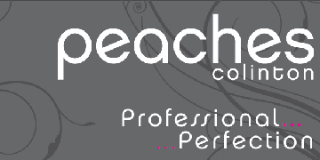 Peaches Colinton beauty salon logo